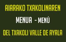 menu txakoli ayala