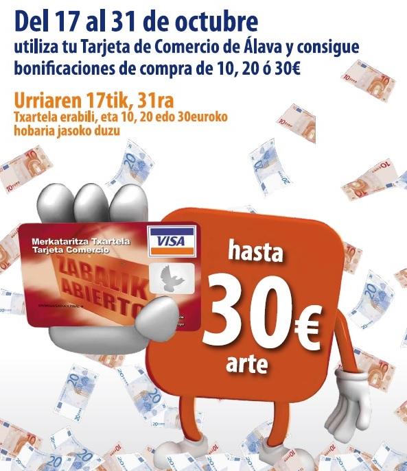 CAMPAÑA DE BONIFICACIONES DE COMPRA CON TU TARJETA COMERCIO DE ÁLAVA