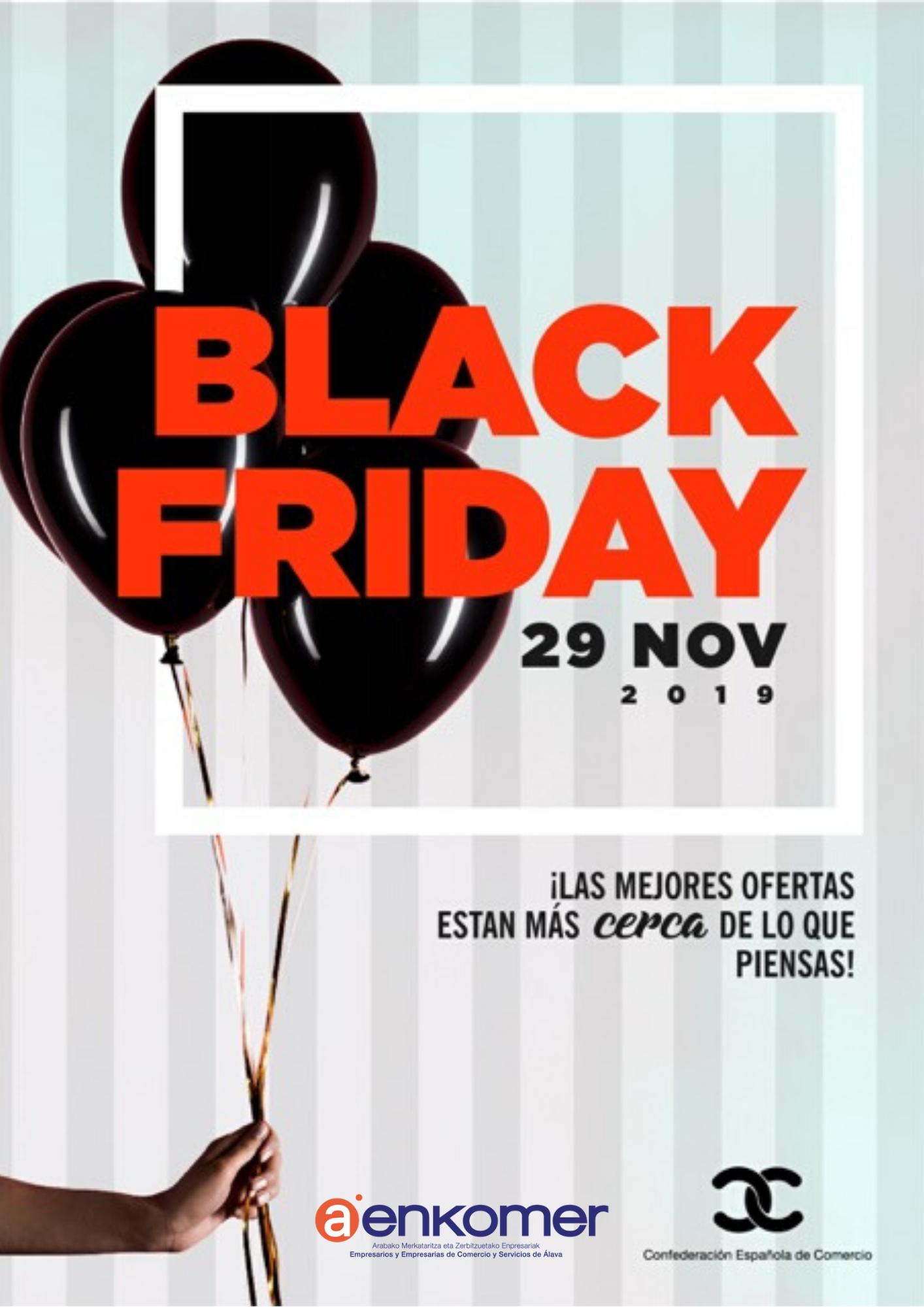 Un 67% del comercio alavés participará en el 'Black Friday'