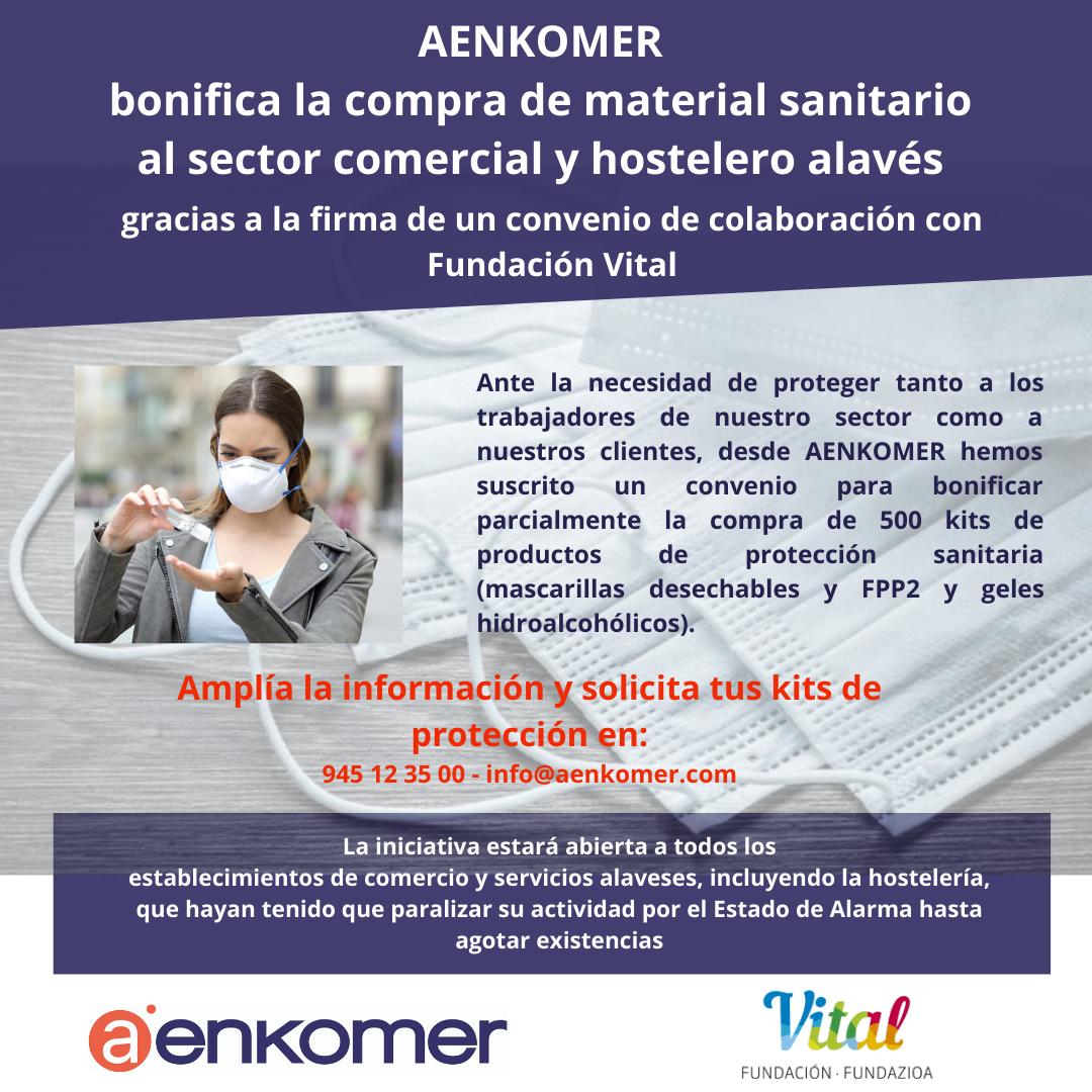 AENKOMER OFRECE MATERIAL SANITARIO BONIFICADO EN COMERCIO, SERVICIOS Y HOSTELERÍA