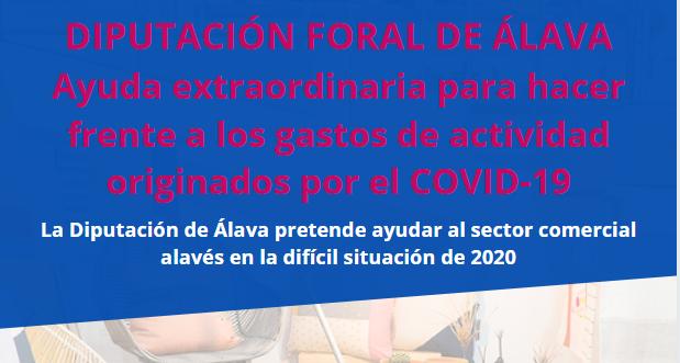 AYUDAS DIPUTACIÓN DE ÁLAVA PARA HACER FRENTE A LOS GASTOS DERIVADOS DE LA COVID-19