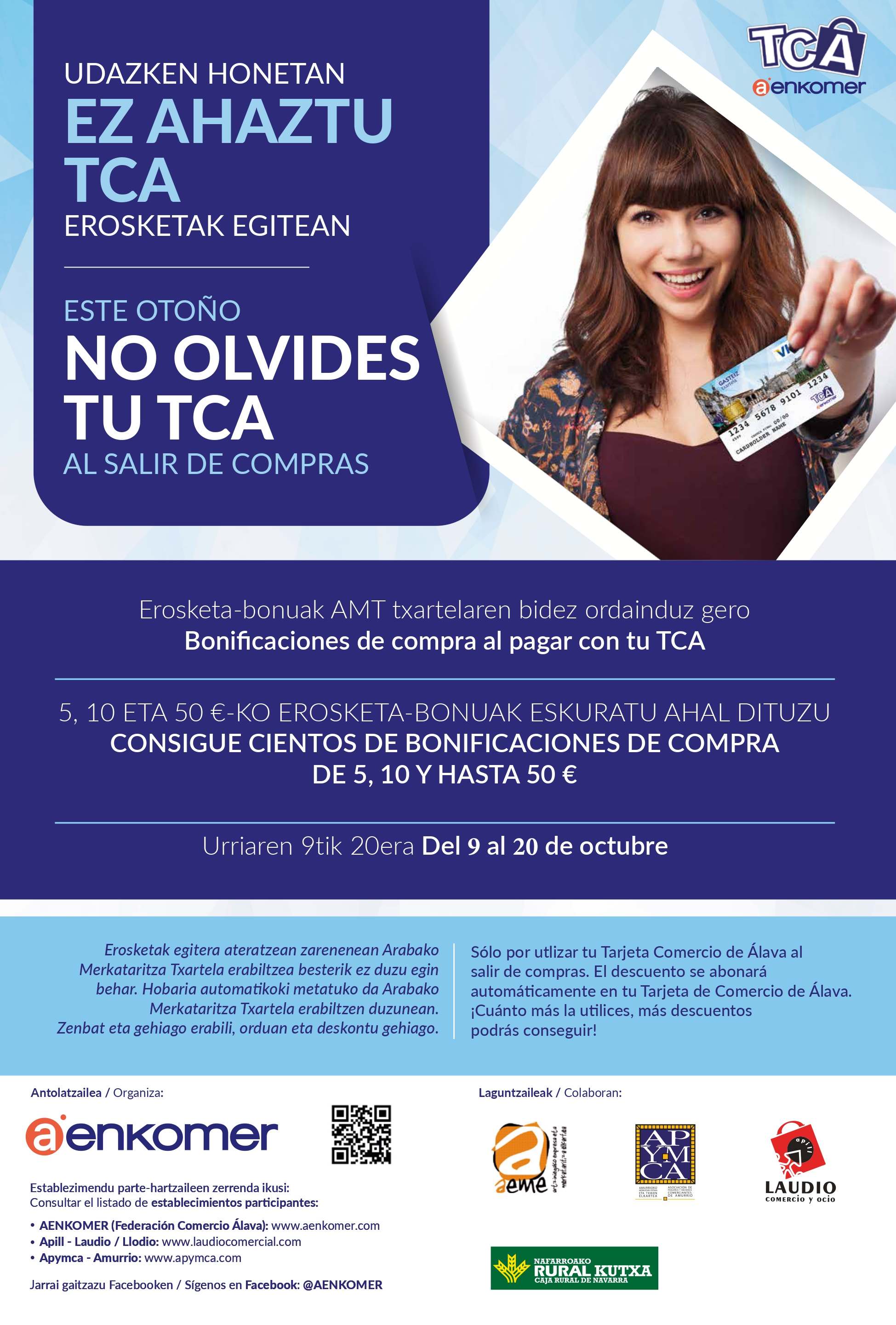 NUEVA CAMPAÑA PARA INCENTIVAR TUS VENTAS CON LA TCA OCTUBRE 2020