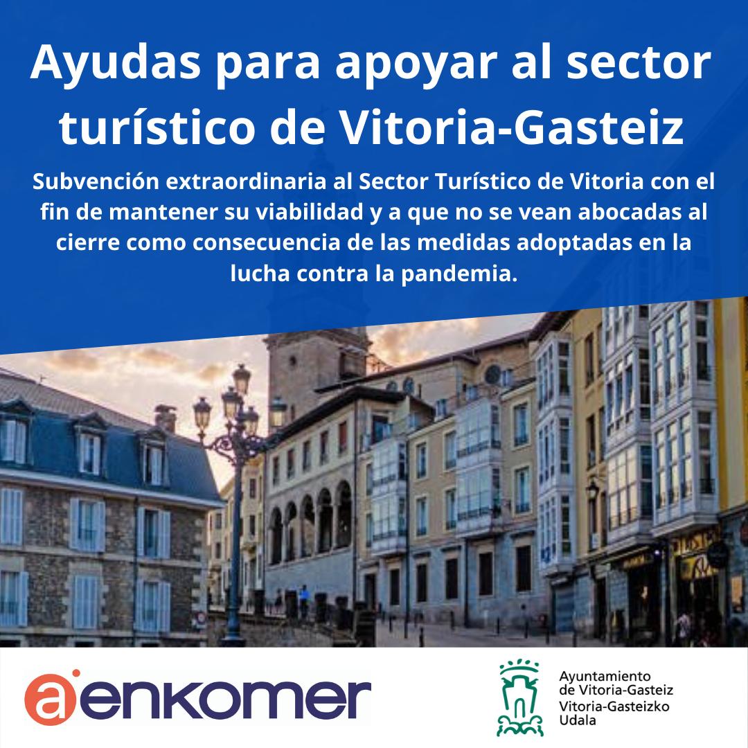 AYUDA DEL AYUNTAMIENTO DE VITORIA-GASTEIZ PARA EL SECTOR TURÍSTICO