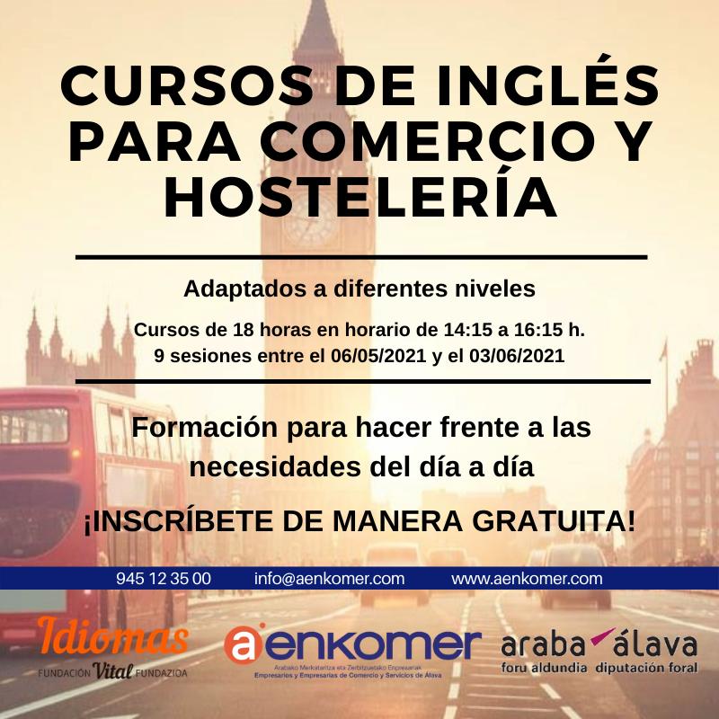 CURSOS GRATUITOS DE INGLÉS PARA COMERCIO Y HOSTELERÍA