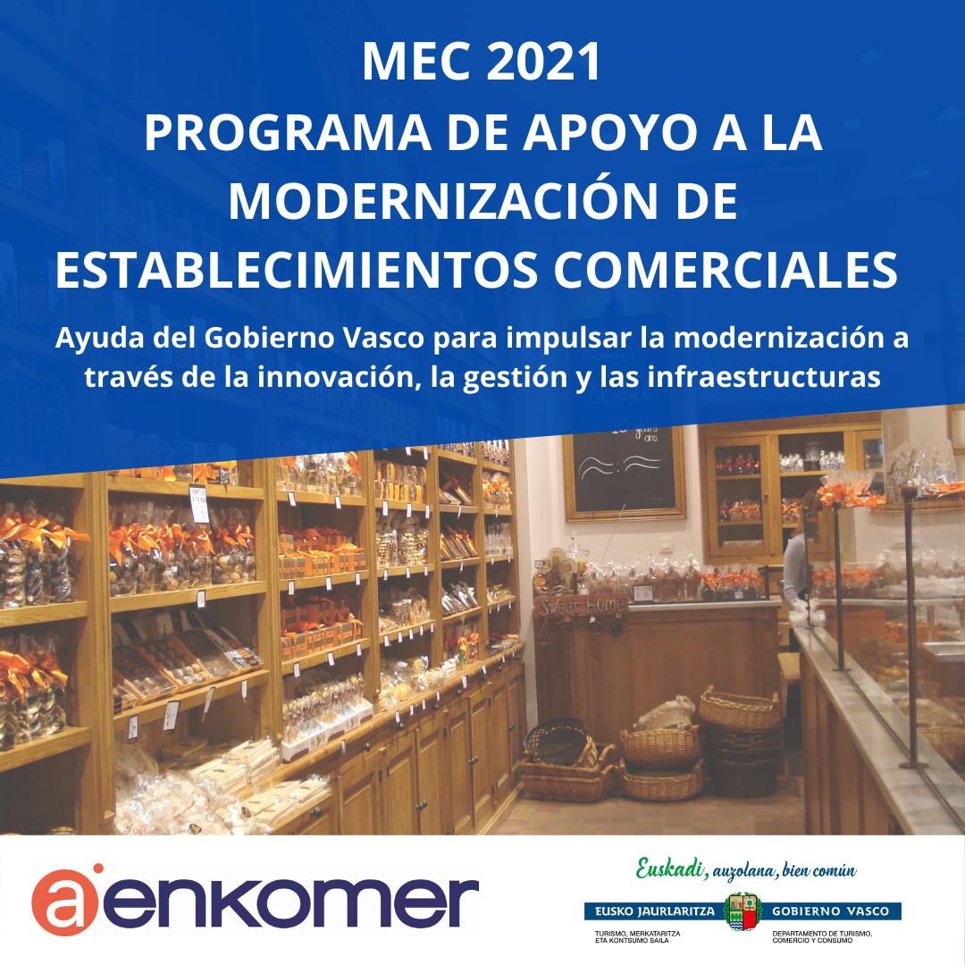 MEC 2021. PROGRAMA DE AYUDAS A LA MODERNIZACIÓN DE ESTABLECIMIENTOS COMERCIALES