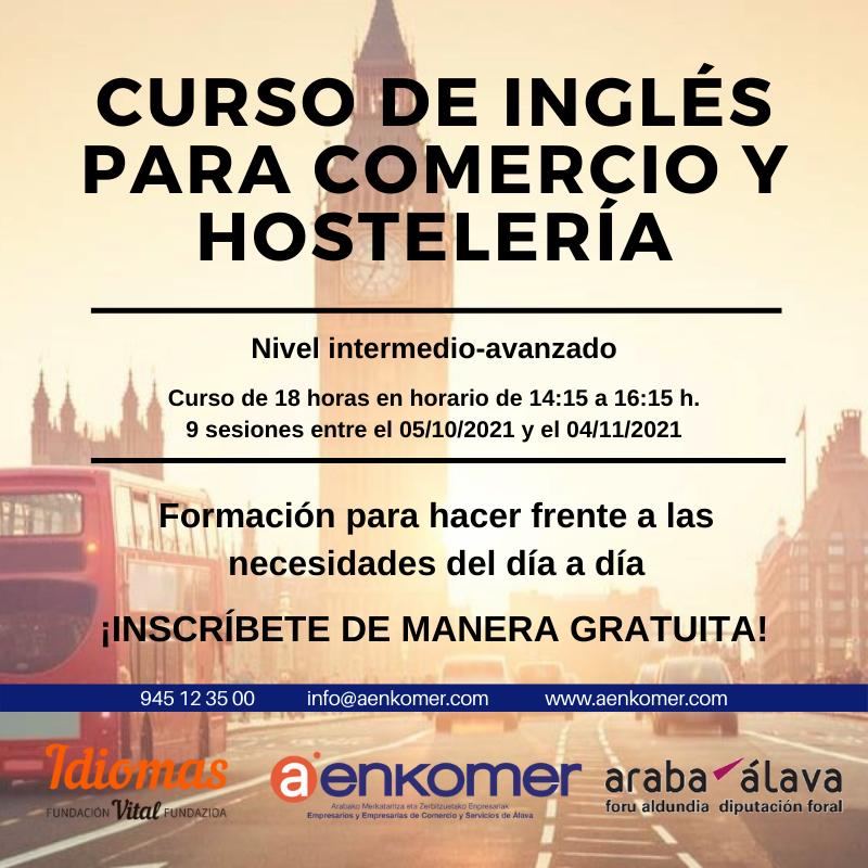 CURSO GRATUITO DE INGLÉS PARA COMERCIO Y HOSTELERÍA